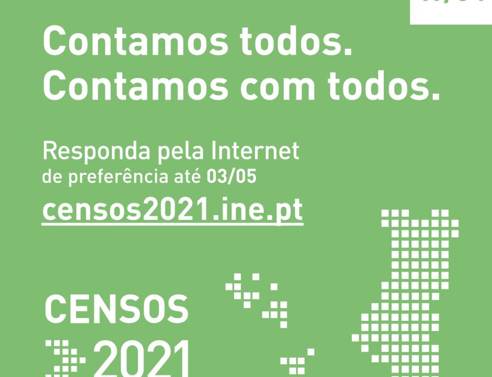 Censos 2021 – Responda pela Internet a partir de 19 de abril